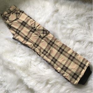 Burton Women's XS Pink/Tan/Brown Snowboard Pants